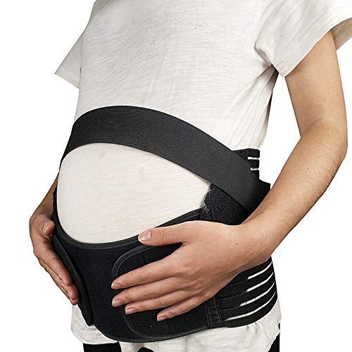Aeromdale Bauchgürtel für Schwangere / Schwangerschaftsgürtel / Schwangerschaftsgürtel / Schwangerschaftsgürtel, stützt Taille, Rücken, Sport-Bandage – Schwarz – S