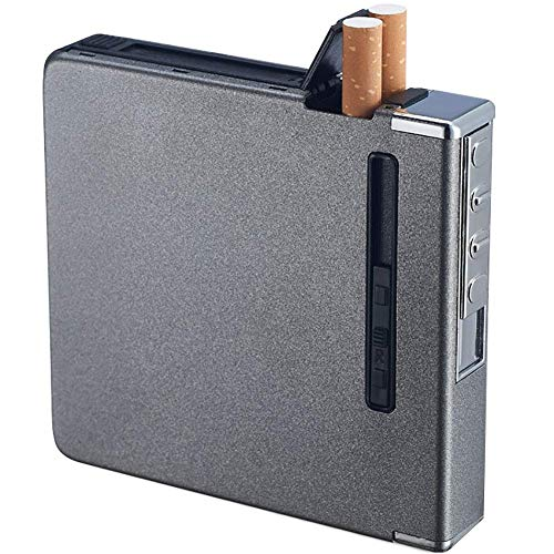 Caja Cigarrillos Portátil, Caja Cigarrillos Encendedores, Encendedor Cigarros Recargable por USB, Eléctrico...