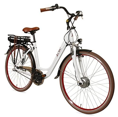 LLOBE City E-Bike Metropolitan Joy weiß, 28 Zoll, Akku 36V / 13Ah, 250 Watt Motor