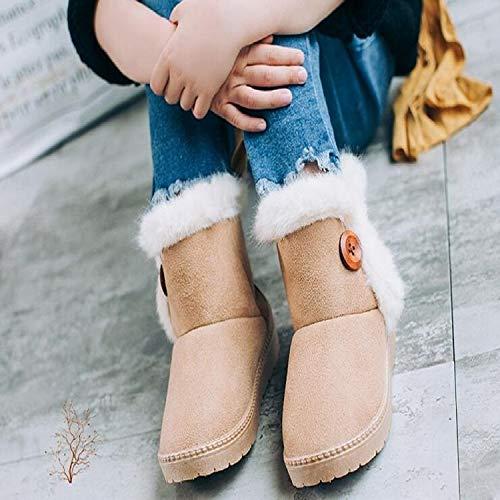 Liujingxue Kids Sneeuwlaarzen, Meisjes Winterlaarzen, Warme Sneakers Kinderen Sneeuwlaarzen Dikke Warme Schoenen Suede Buckle, Grootte: 24, Meisjes Chelsea Boots