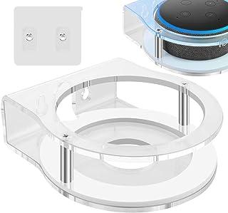 Geekria - Soporte de pared de acrílico para Echo Dot (3ª generación) con un reloj LED y Alexa, soporte para altavoces, sop...