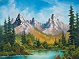 5D DIY diamante bordado montaña diamante pintura mosaico paisaje imagen diamantes de imitación hogar diamante pintura A12 45x60cm