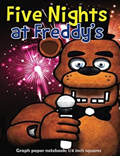 Five Nights at Freddy's: Graph paper notebook: 1/4 inch squares