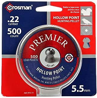 Crosman Premier Hollow Point 500 pellets in a tin. LHP22