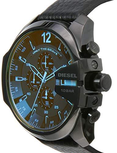 Diesel Homme Chronographe Quartz Montre avec Bracelet en Cuir DZ4323