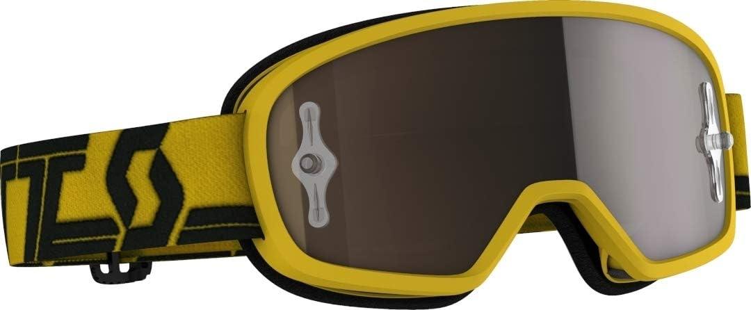 Scott Buzz Pro Kinder Mx Goggle Cross Mtb Brille Gelb Schwarz Goldfarben Chrom Works Sport Freizeit