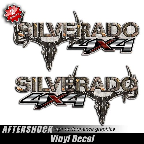 Aftershock Decals Silverado Truck 4x4 Camouflage Skull Hunting Decal Set