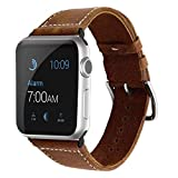 Echtleder Armband fr Apple Watch 44/42mm iWatch Uhrenband [Vintage] Ersatzarmband fr Series 4,...