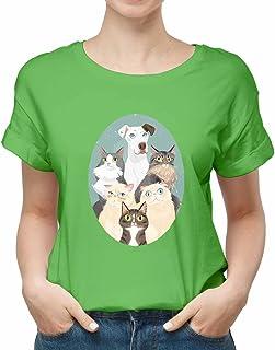 cats & dogs New modern T-shirt for women TSW-2314