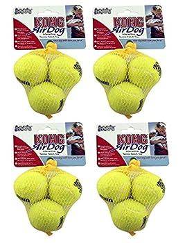 Pets Playground UK Kong airdog Balles de tennis pour chien, XS, Lot de 12