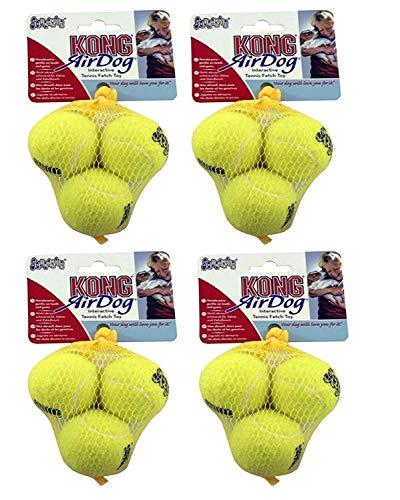 Kong AirDog Tennisbälle, Größe XS, 4er-Packung (insgesamt 12 Bälle)