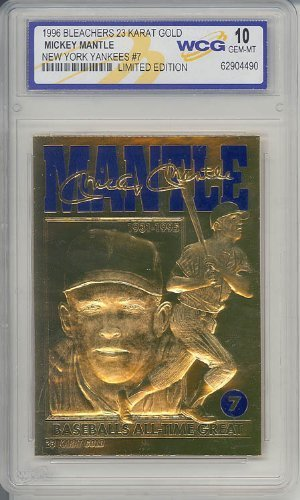 96 MICKEY MANTLE 23K GOLD CARD GEM-MINT by Mickey Mantle