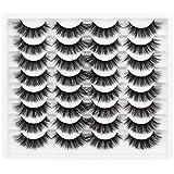 Cat Eye Lashes Pack Wispy 16mm False Eyelashes Natural Full Fluffy 3D Faux Mink Lashes Medium Volume Soft Reusable...