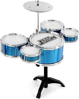 Maliyaw Juego de batería para niños, Kit de batería para niños Principiantes Instrumento de percusión de batería de Jazz Rompecabezas de educación temprana para niños Mayores de 3 años