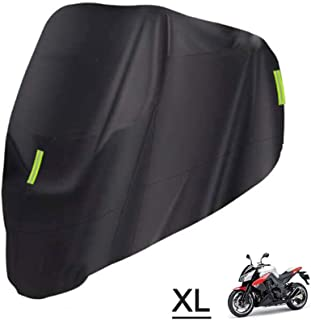 RuleaxAsi 1# Universal Motorcycle Cover – All Season Waterproof Outdoor Protection Against Dust Debris Rain and Weather(M-...