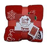 Manta de lujo de felpa de elfo en el estante de Navidad (rojo)   Accesorios de elfo en el estante