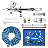 Gocheer High Precision Dual Action Gravity Feed Airbrush Kit with 0.2 0.3 0.5mm