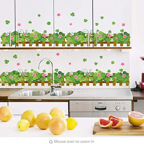 Landhausstil Gartenzaun Blume Wandaufkleber Wohnzimmer Schlafzimmer Küche Dekoration Aufkleber Home Decor Poster 40 * 60Cm