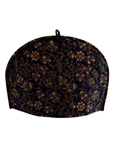 Dark Blue Tea Cozy 14x11 Inches Teapot Cover Small Size Handmade Indian Print Cotton Tea Cosy, tea c