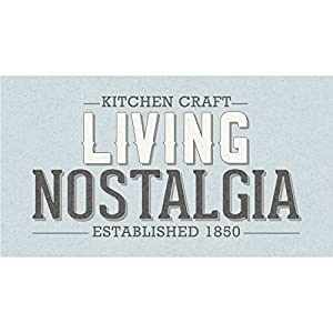 Living Nostalgia Kitchen Craft LNJUICERBLU Presse-Agrumes, Acier, Bleu Clair et Argent, 28 x 28 x 18 cm