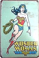 WONDER WOMAN ワンダーウーマン ブリキ看板 20cm×30cm アメリカン ヒーロー キャラクター インテリア雑貨