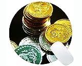 Yanteng Alfombrilla de ratón Redonda para Juegos Personalizada, Alfombrilla de ratón Redonda para Billetes de dólar con Borde Cosido