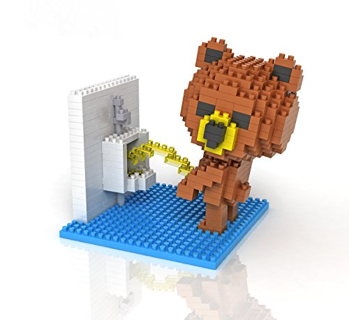 Sanzo Super Cute Brown Bear - Toilet - Nano Mini Blocks DIY Educational Toys for Adults and Kids