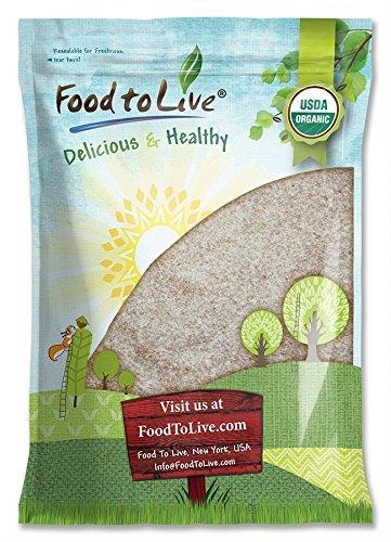 Organic Psyllium Husk Powder, 5 Pounds - Non-GMO, Kosher, Ultra Fine, Unsweetened, Unflavored, Rich in Fiber, Natural Food Thickener, Great for Baking, Raw, Bulk, Vegan, Keto Friendly