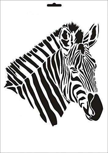 UMR-Design W-010 Zebra Wand/Textilschablone Grösse A4