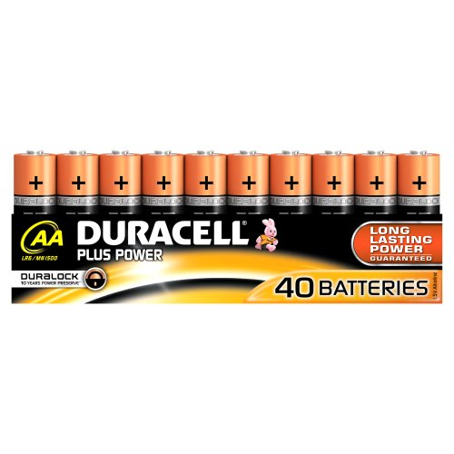 Duracell Plus Power Single-Use Battery AA Alcalino 1,5 V - Pilas (Single-Use Battery, AA, Alcalino, Cilíndrico, 1,5 V, 40 Pieza(s))