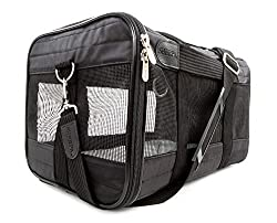The Sherpa Deluxe pet carrier is both light and durable. It is airline approved