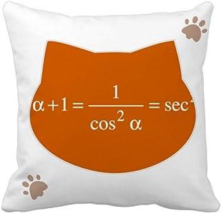 OFFbb-USA Fórmula matemática expresiones Computación aumento gato manta almohada cubierta cuadrada