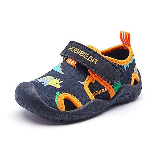 Sandalen für Kleinkinder und Kinder Quick Dry Closed-Toe Slipper Aquatic Sport Strand Wasserschuhe (Jungen, Mädchen)
