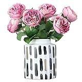 DEF Realista Flores Artificiales Rosas de Seda Boda Nupcial Ramo Decoración Hogar Cocina Decoración del Partido Disposición de la Escena