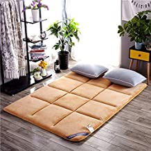Futon mattressFoldable Non-Slip Tatami Bed Mattress,Thick Twin Single Cotton Bed pad Mattress Pads Bed Mattress Bedroom Be...