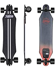 """Teamgee H5 37"""" Electric Skateboard, 22 MPH Top Speed, 760W Dual Motor, 11 Miles Range, 6.6KG, 10 Layers Maple Longboard with Wireless Remote Control"""