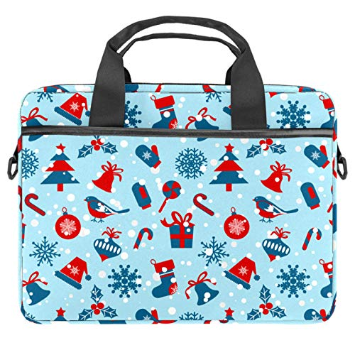 Laptop Tote Bag Computer Rucksack Compatible with Chromebook, MacBook Pro Christmas Symbols