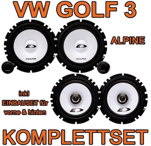 VW Golf 3 - Alpine Komplettset für vorne & hinten