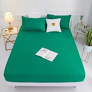 CTOBB (Nouveau sur Le Produit) 1pc 100% Polyester Housse de Matelas en Drap-Housse Solide Quatre Coins avec Bande de lit e...