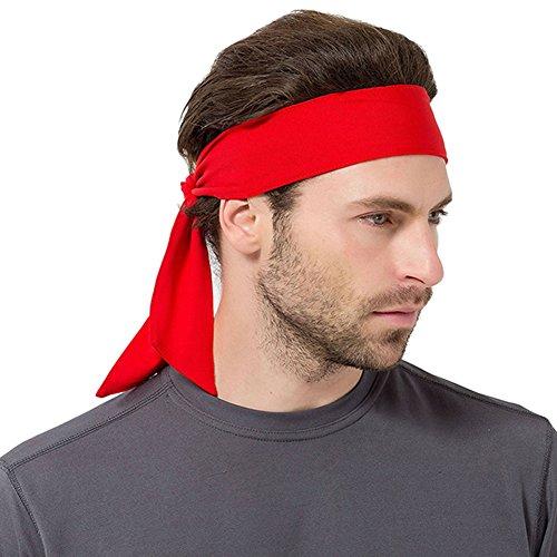 Brave Pioneer Bandeau Homme de Sport, Bande de Cheveux Bandana Séchage Rapide Anti-Dérapant pour Jogging Cyclisme Moto Gym