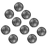 WINOMO Botones de metal, 10 piezas de moda gemelos botones de repuesto para mujer abrigo botón de metal para ropa de costura DIY (negro)