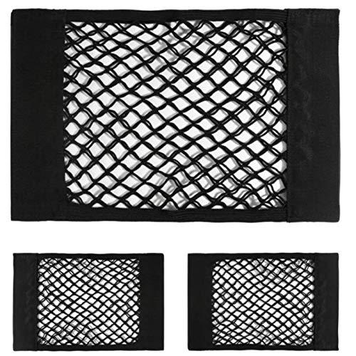 Auto netzak, dubbellaags netto zak met klittenband auto stam opbergtas auto ingebouwde tas auto brandblusser vaste net (een set van 4),25 * 60cm