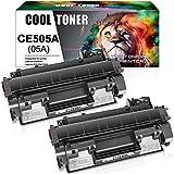 Cool Toner Compatible Toner Cartridge Replacement for HP 05A CE505A Toner Cartridge for HP Laserjet P2035 P2055DN P2035N P2030 P2050 P2055D P2055X Printer Ink (Black, 2-Pack)