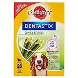 Pedigree DentaStix Fresh Snacks Multipack für mittelgrosse Hunde (10-25kg), 4 x 7 Stück, 1er Pack (1 x 720 g)