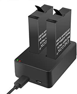 ENEGON Gopro Fusion 互換バッテリー (2620mAh,2個) & 充電器(Micro USB & Type-C入力) Fusion 360°スポーツカメラ ASBBA-001バッテリーに対応