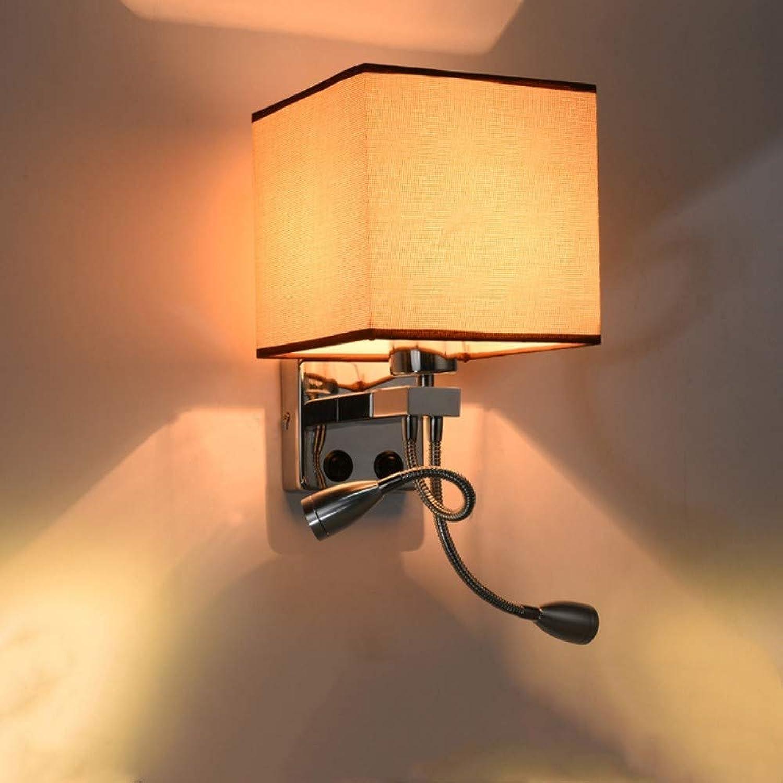 Nordic country wandleuchte LED schlafzimmer nachttischlampe einfache moderne wohnzimmer gang kreative stoff wandleuchte, F