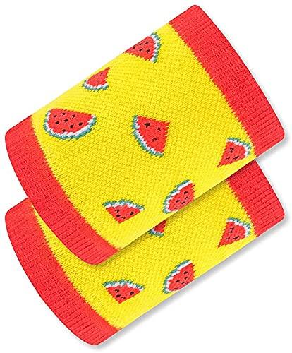 Seupeak Unisex Sport Protection Pulsera Nueva Pulsera para niños Sandía Bola Color Muñeca Deportes Muñeca Baloncesto Deportes al Aire Libre Muñeca (Color : Yellow Red)