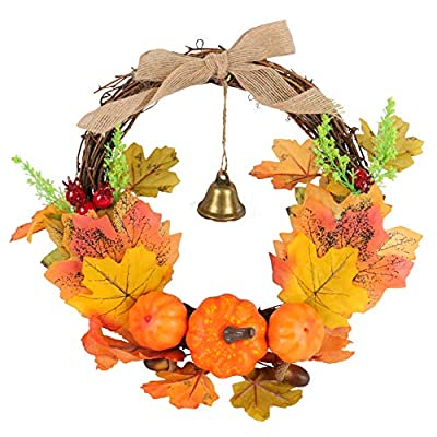 Beferr Fall Wreath Autumn Wreath Harvest Maple ...