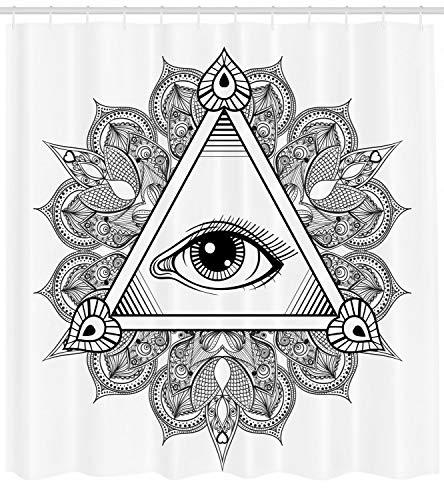 taquxinlaowan Auge Duschvorhang Vintage Tattoo Boho okkulten Druck für Badezimmer