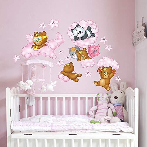 kina RCC0025-RS muursticker voor kinderen, bedrukt, van behang - afmetingen 120 x 30 cm - wanddecoratie